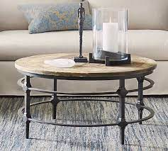 round reclaimed wood coffee table