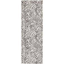dark gray chevron outdoor oasis 2 2 x 6 0 runner rug