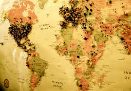 Image result for World Map with Pins