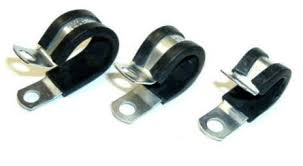 fastronix solutions cable clamps heavy duty plated steel neoprene cushioned clamps use to secure hoses fuel lines wire harnesses cables and loom tubing clamps have a 1 4 mounting