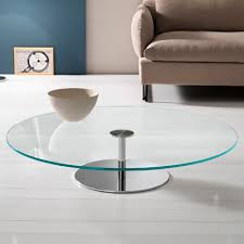 farniente 110cm round glass low coffee