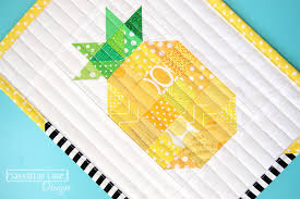 Pineapple Quilt Pattern Gorgeous Free Patchwork Pineapple Mini Quilt Pattern Sassafras Lane Designs
