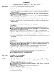 Cad Technician Resume Sample Manufacturing Engineering Technician Resume Samples Velvet Jobs 22