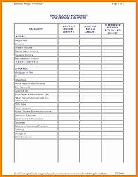 Budget Worksheet Mortgage Inspirationa Spreadsheet Template Excel ...