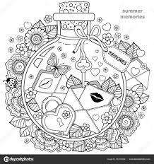 Kleurplaten Voor Volwassenen Vector Kleurboek Voor Volwassenen Een