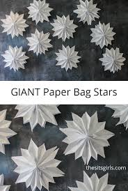 Decorative Stars For Parties Giant Paper Bag Stars Bags Videos And Paper Bags