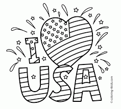 Small Picture Coloring Pages I Love Usa Coloring Pages July Independence Day