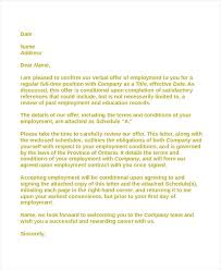 Acceptance Letter For Offer Employment Contract Acceptance Letter Acceptance Letter