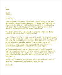 Employment Acceptance Letter Employment Contract Acceptance Letter Acceptance Letter