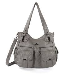 women multi pockets casual soft leather cross bag shoulder bag satchel