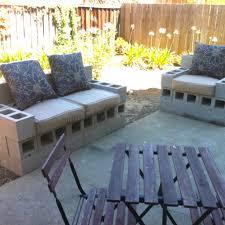 cinderblock furniture. Lovely Perfect Cinder Block Furniture Backyard Spent The Morning Building Some Patio Cinderblock