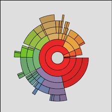 Multi Layer Pie Chart Break Out Detail Color Code Allows