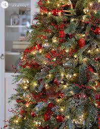 Plaid Christmas Tree Traditional Red Tartan Plaid Christmas Tree 2016 Michaels Dream