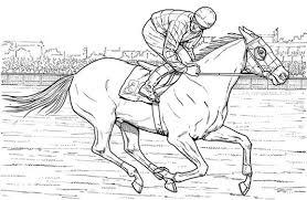 Race Horse Coloring Pages Printable Murderthestout