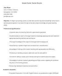 Resume Format For Teaching Profession Resume Format For Teachers