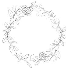 Wreath Coloring Coloring Pages Animals Printable Advent Wreath For