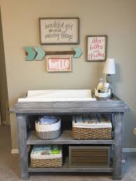 gray nursery furniture. baby ivie rustic changing table barn wood weathered gray nursery furniture