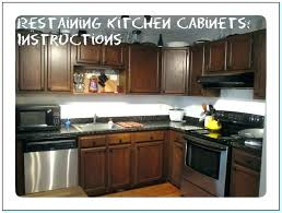 Restain Oak Kitchen Cabinets Amazing Restain Kitchen Cabinets Darker Medium Size Of Kitchen Golden Oak