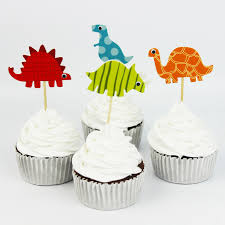 Cupcake Decorating Accessories 100pcs Dinosaur Cupcake Toppers Picks Funny Wedding Cake Toppers 44