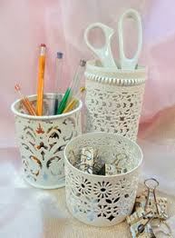 shabby chic office accessories. Desk Accessories, Makeup Organizer, Shabby Chic Decor, Pencil Holder Office Accessories A