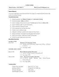 Manual Testing Sample Resumes Resume Contract Quality Engineer