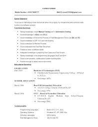 Tester Resume Samples Manual Testing Sample Resumes Selenium Resume Samples 3 Years Manual