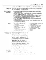 Sample Of Nursing Resume Objective Bongdaao Com Elegant Amazing 82