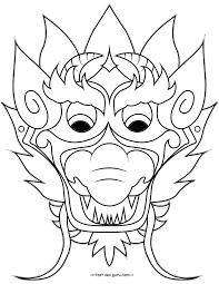 Free Blank Masks Coloring Pages