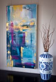 a night in paris by kellie morley 18x36 abstract acrylic on canvas