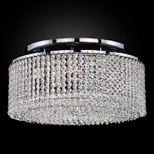 crystal ceiling light flush mount urban chic 596cc5lsp 7