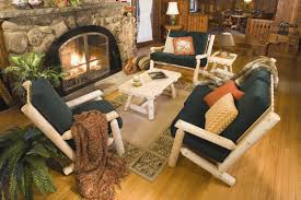 Sparkling A Rustic Cedar Log Living Room Cabin Setting Furnishings Rustic  Log Framed Cabin Or Cottage