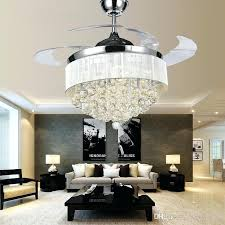 spanish style ceiling fans modern chrome crystal led ceiling fans invisible blades white chandelier ceiling fan