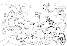 Free Colouring Pages Zoo Animals Coloring To Print Preschool Of