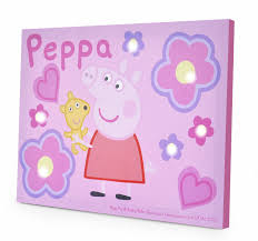 on peppa pig wall art stickers with amazon peppa pig led canvas wall art 11 5 x 15 75 toys games