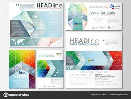 Formati Brochure Social Media Post Insieme Modelli Di Business Modello Di Copertina