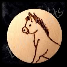 cute donkey design wood burned fridge magnet animal lover gift conscious crafties