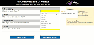 average salary calculator ae and sales leader compensation calculator