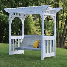 berlin gardens poly furniture. Berlin Gardens Vinyl Swing Arbor Poly Furniture