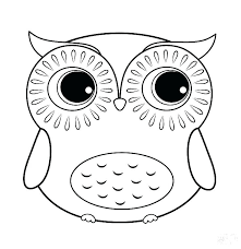 Cute Owl Coloring Pages To Print Mistersofpuertoricoinfo