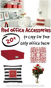 girly office supplies. Red Office Supplies Cute Girly Decor T