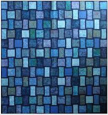 Blue Moon Quilt Kit with Pattern Blue Underground Studios DIY & 🔎zoom Adamdwight.com