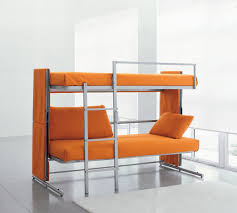 fascinating space saving ideas for small bedroom with cool metal bunk beds which has orange foam bedroom photo 4 space saver