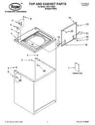 similiar roper washing machine repair diagram keywords 01 top and cabinet parts 02 controls and rear pan 03 agitator