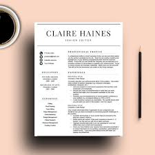 Resume Template For Word 1 2 Page Resume Cover Letter Icons