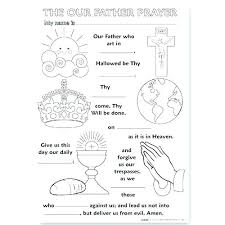 Coloring Pages Our Father Coloring Page Catholic Pages Hail Our