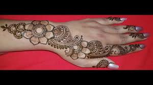 Latest Mehandi Designs For Diwali Diwali Special Simple Arabic Henna Design For Back Hands