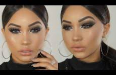 fall blackout smokey eye makeup tutorial