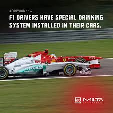 Drinking System F1 Drivers Have Special Drinking System Installed In Their Cars