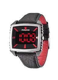 police men s watch digital quartz leather pl 13890jpbs 02 amazon police men s watch digital quartz leather pl 13890jpbs 02