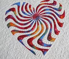 Applique Heart Quilt Pattern Happy Heart Geta's Quilting Studio Awesome Quilt Patterns